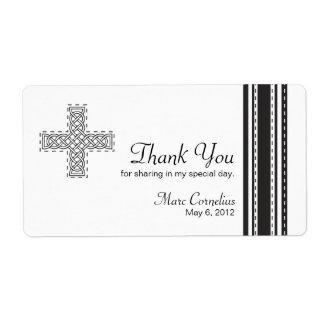 Celtic Cross First Holy Communion Favor Label