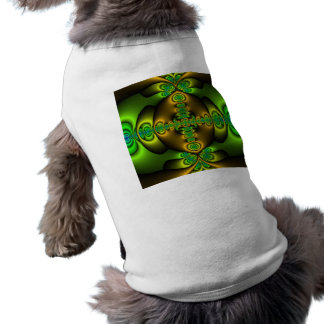 Celtic Cross Fractal Art Doggie T Shirt