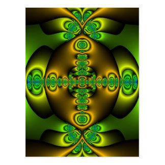 Celtic Cross Fractal Art Postcard