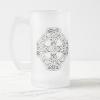 Celtic Cross Frosted Mug