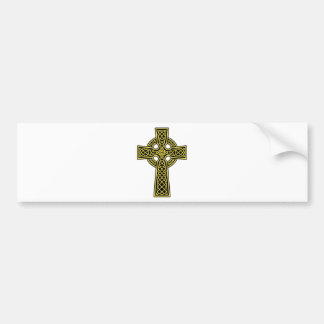 Celtic Cross gold and black Bumper Sticker