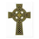 Celtic Cross gold and black Postcard