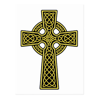Celtic Cross gold and black Postcard