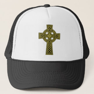Celtic Cross gold and black Trucker Hat