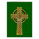 Celtic Cross, gold and green