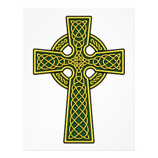 Celtic Cross gold and green Flyer