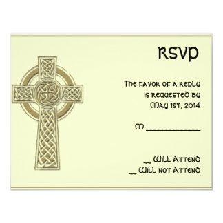 Celtic Cross Gold and Mythic Ivory Response Card