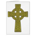 Celtic Cross gold Card