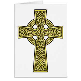 Celtic Cross gold Card