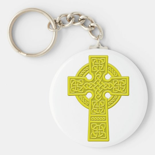 Celtic Cross gold Keychain