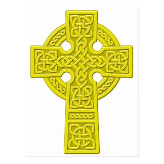 Celtic Cross gold Postcard