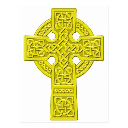 Celtic Cross gold Postcard