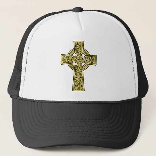 Celtic Cross gold Trucker Hat