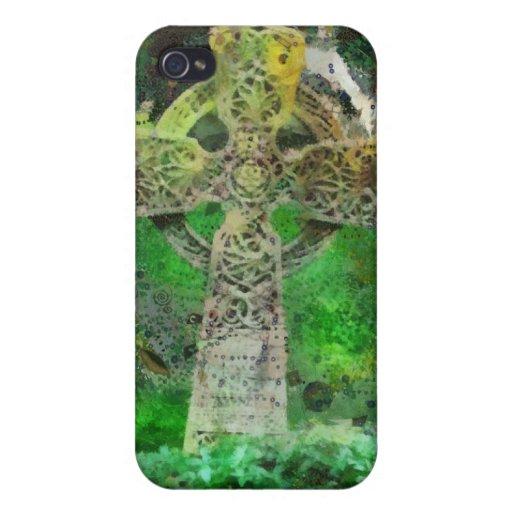 Celtic Cross Gravestone Cover For iPhone 4