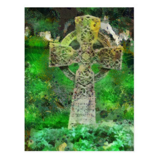 Celtic Cross Gravestone Postcard