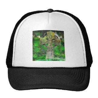 Celtic Cross Gravestone Trucker Hats