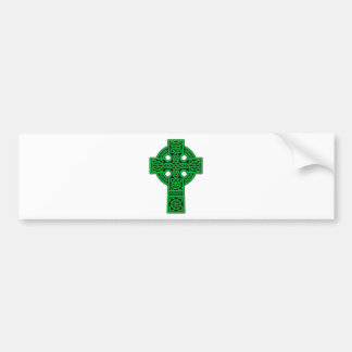 Celtic Cross green Bumper Sticker