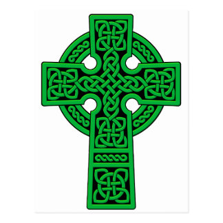 Celtic Cross green Postcard