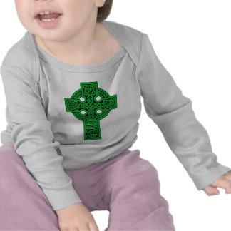 Celtic Cross green T-shirts