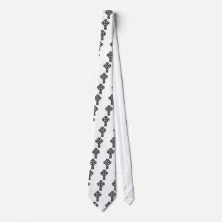 Celtic Cross grey and black Neck Tie