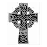 Celtic Cross grey and black Postcard