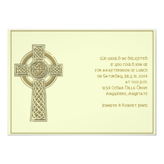 Celtic Cross Harvest Gold and Mythic Ivory Party Card