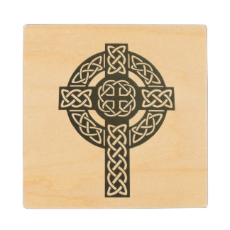 Celtic Cross Image Wooden Coaster