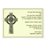Celtic Cross in Black Ivory Wedding Invitation