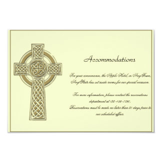 Celtic Cross in Gold Mythic Ivory Wedding Insert 3.5x5 Paper Invitation Card