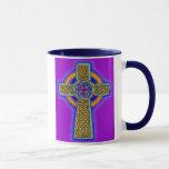 Celtic Cross in Pink Hues Mug