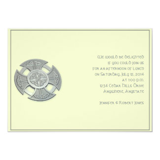 Celtic Cross in Silver and Mythic Ivory Card
