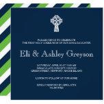 Celtic Cross Invitation - Twins First Communion