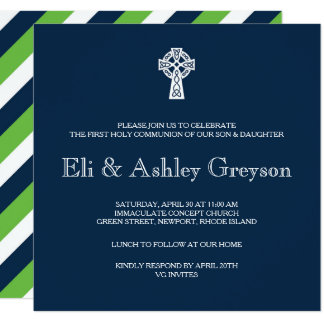 celtic_cross_invitation_twins_first_communion rb8ea05c02187499ab2680297d4af05d7_6gduo_324?rlvnet=1 first communion invitations & announcements zazzle,First Communion Invitations For Boy Girl Twins