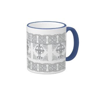 Celtic Cross Knot Drinkware Ringer Mug