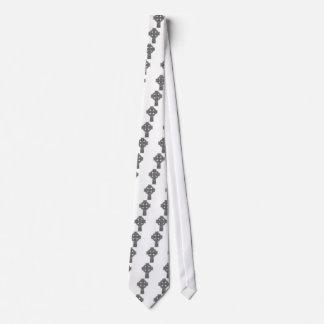 Celtic Cross light grey and black Tie