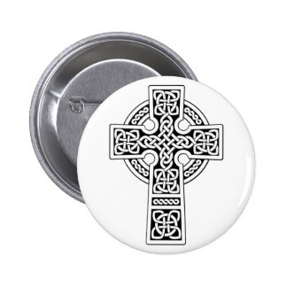 Celtic Cross light white and black 2 Inch Round Button
