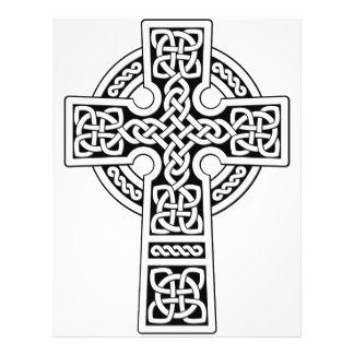 Celtic Cross light white and black Flyer