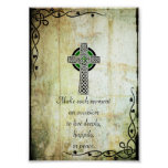 Celtic Cross - Make Each Moment Quote Poster