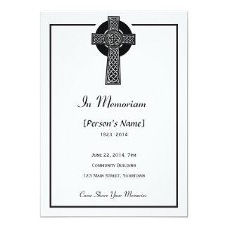 Celtic Cross Memorial Invitation