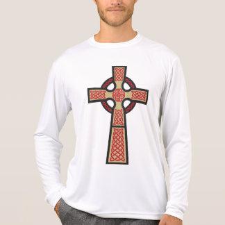 Celtic Cross Men's Micro Fiber Long Sleeve Shirt