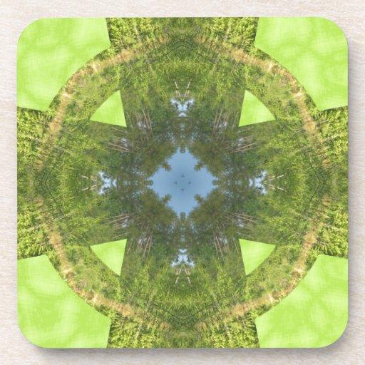 Celtic Cross of Greenery! Coasters