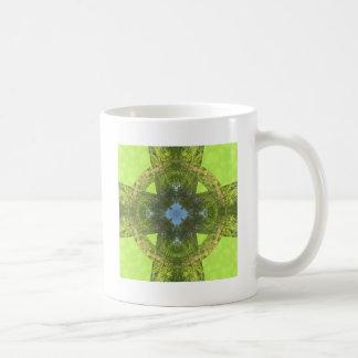 Celtic Cross of Greenery! Coffee Mugs