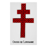 Celtic Cross of Lorraine Poster