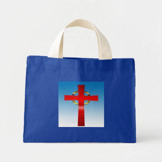 Celtic Cross ona Blue Gradient Background Bag
