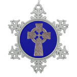 Celtic Cross Pewter Snowflake Ornament