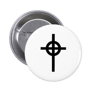 Celtic cross pinback button