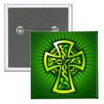 Celtic cross pinback buttons