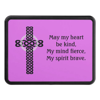 Celtic Cross Quote (Bg color changable) Hitch Cover