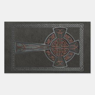Celtic Cross Rectangular Sticker
