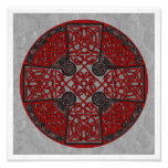 Celtic Cross - Red and Black Photograph